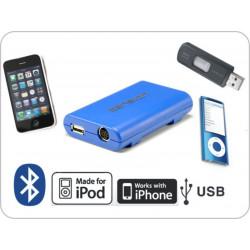 Dension Gateway Lite BT iPod és USB interface Bluetooth kihangosítóval és A2DP zene lejátszással Volkswagen autókhoz (MiniISO)