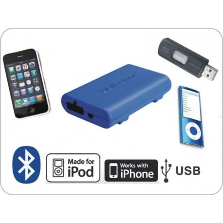 Dension Gateway Lite BT iPod és USB interface Bluetooth kihangosítóval és A2DP zene lejátszással Renault autókhoz