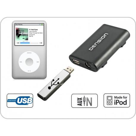 Dension Gateway Lite 3 iPod és USB interface SEAT autókhoz MinISO 2 csatlakozóval