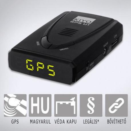 KIYO GPS800 detektor telepített adatbázissal